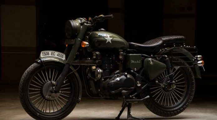Royal Enfield Bullet 350 Standard Mahi by Eimor Customs Side